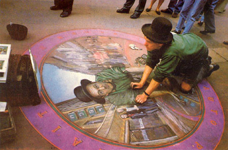 Self-Portrait by Julian Beever